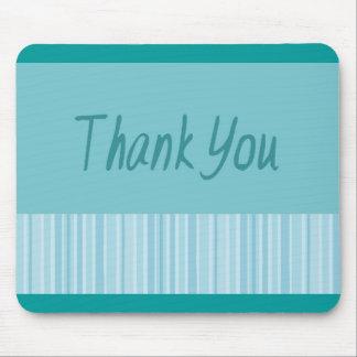 Danke blauer Streifen Mousepad