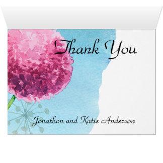 Danke Blumen Aquarell Lauch Mitteilungskarte