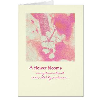 Danke - Blumen-Blüte Karte