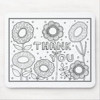 Danke Blumen Mauspad