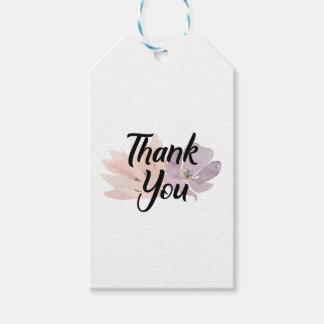Danke, Blumen zu bevorzugen Geschenkanhänger