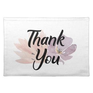Danke, Blumen zu bevorzugen Tischset