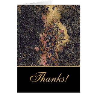 Danke! Blumenblätter u. Plasterung Karte