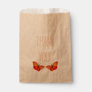 Danke Buteerflies, der Bevorzugungs-Tasche Geschenktütchen