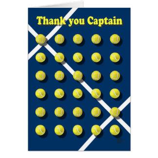 Danke Captain personalisiertes Karte