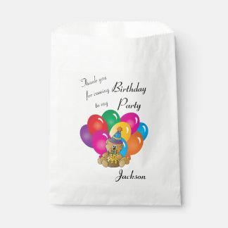 Danke Cartoon-Geburtstags-Bär Geschenktütchen