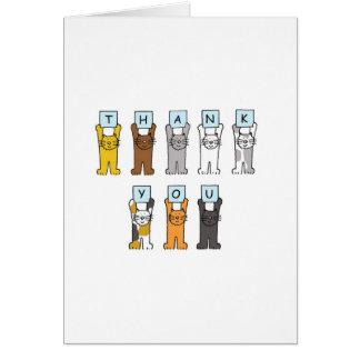 Danke Cartoonkatzen. Grußkarte