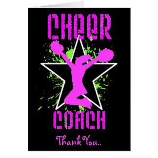 Danke Cheerleader-Trainergrußkarte Grußkarte