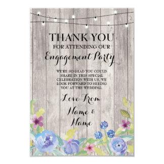 Danke, das Blumen Verlobungs-Hochzeits-Holz zu 8,9 X 12,7 Cm Einladungskarte