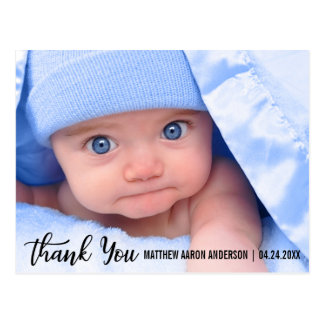 Danke das neue moderne Baby Postkarte