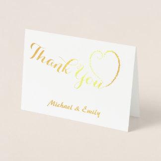 Danke die niedliche personalisierte Herzkarte Folienkarte