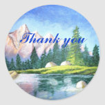 Danke, die rosa Berg Aufkleber runden