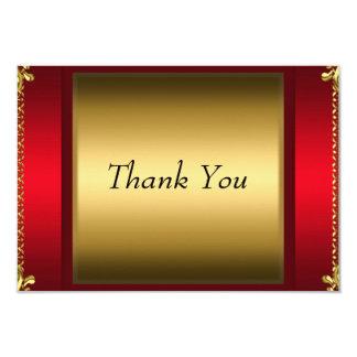 Danke, die rotes Gold Ihnen danken zu kardieren 8,9 X 12,7 Cm Einladungskarte