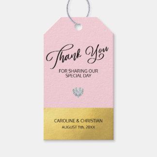 DANKE, die spezieller Tag rosa Herz-Hochzeit Geschenkanhänger