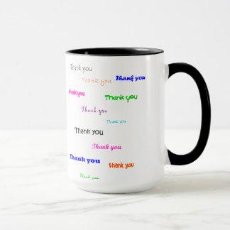 Danke die Tasse, gefärbt Tasse