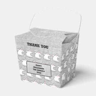 Danke:  Diva-Geist-Muster auf strukturiertem Grau Geschenkschachtel