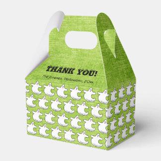 Danke:  Diva-Geist-Muster auf strukturiertem Grün Geschenkschachtel
