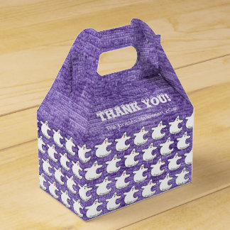 Danke:  Diva-Geist-Muster auf strukturiertem Lila Geschenkschachtel