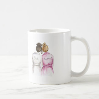DANKE dunkle Br-Brötchen-Braut-dunkles Kaffeetasse