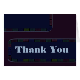 Danke dunkle lila blaue Fliesengrenze Karte