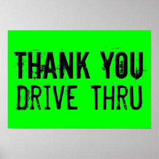 Danke, durch Plakat zu fahren