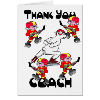 Danke Eis-Hockey-Zug Grußkarte