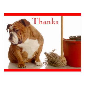 Danke englisches Bulldoggen-Hündchen Postkarte