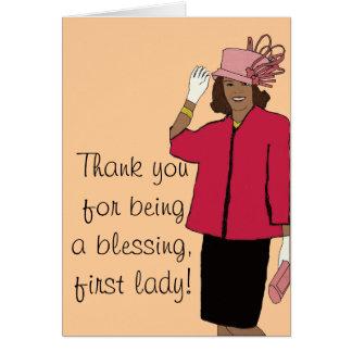 Danke erste Dame Karte
