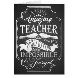 Danke fantastische Lehrerkarten-Anerkennungswoche Grußkarte