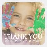 Danke Foto-Aufkleber für KinderParty