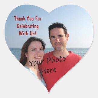 Danke! Foto-Herz-Aufkleber
