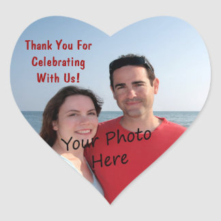 Danke! Foto-Herz-Aufkleber Herz-Aufkleber