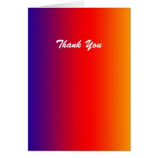 Danke, freier Raum nach innen, klarer Regenbogen Karte