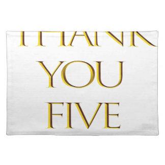 Danke fünf! stofftischset