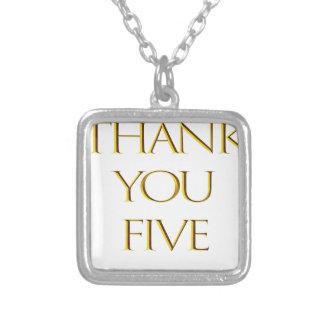 Danke fünf! versilberte kette