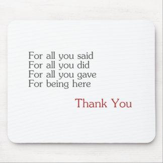 Danke für alle mauspad