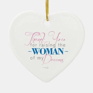 Danke für das Anheben der Frau meiner Träume Keramik Herz-Ornament