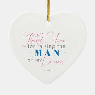 Danke für das Anheben des Mannes meiner Träume Keramik Herz-Ornament