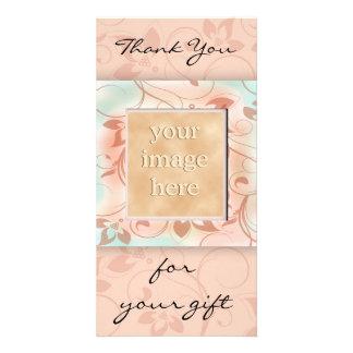 Danke für das Geschenk - Braun Bildkarte