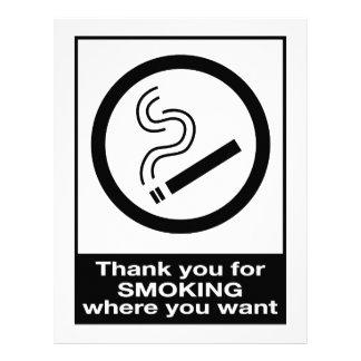 Danke für das Rauchen 21,6 X 27,9 Cm Flyer