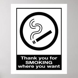 Danke für das Rauchen Plakat