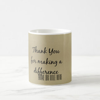 Danke für das Unterscheiden Kaffeetasse