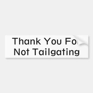 Danke für den nicht Tailgating (geometrisch) Autoaufkleber