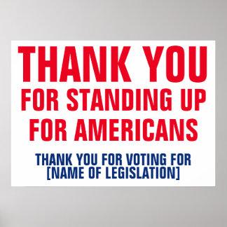 Danke für die Abstimmung für Poster
