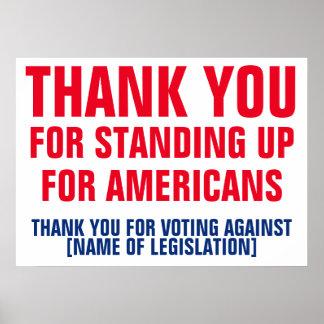 Danke für die Abstimmung gegen Poster