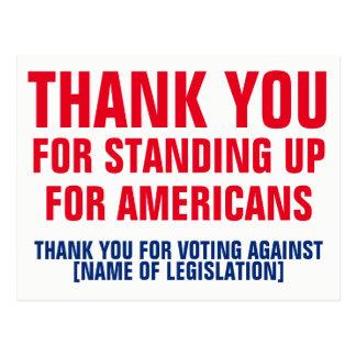 Danke für die Abstimmung gegen Postkarte