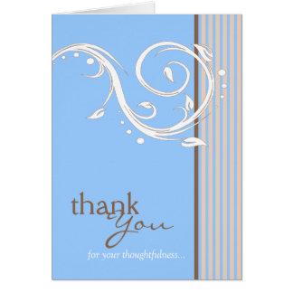 Danke für Ihr Rücksichtnahme-Blau Karte