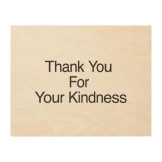 Danke für Ihre Güte Holzdrucke