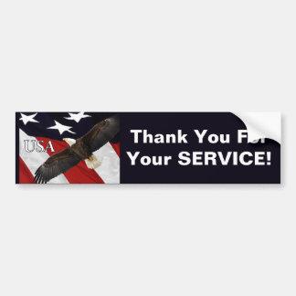 Danke für Ihren Service Eagle Autoaufkleber