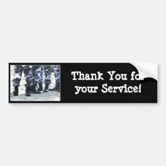 Danke für Ihren Service Militär-Autoaufkleber Autoaufkleber